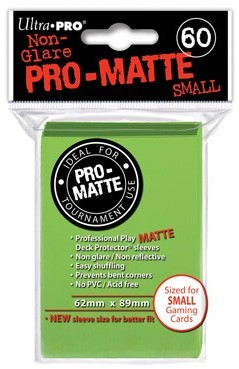 Sleeves Pro-Matte - Small Lime Groen (62x89 mm)