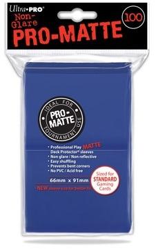 Sleeves Pro-Matte - Standaard Blauw (100 stuks)