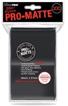 Sleeves Pro-Matte - Standaard Zwart (100 stuks)