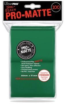 Sleeves Pro-Matte - Standaard Groen (100 stuks)