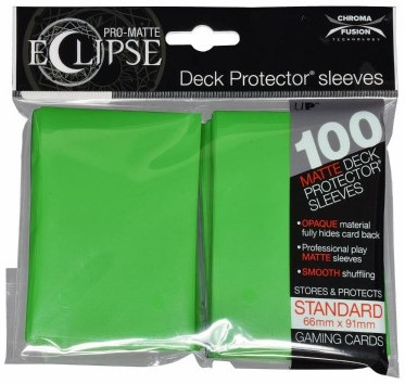 Sleeves Eclipse Lime Green (66x91 mm)