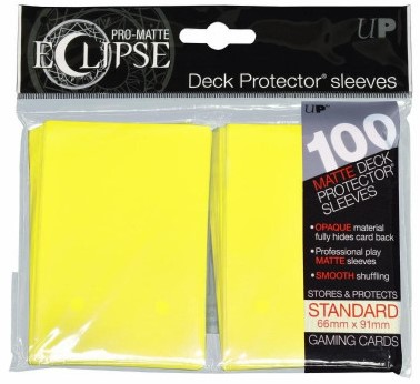 Sleeves Eclipse Lemon Yellow (66 x91 mm)