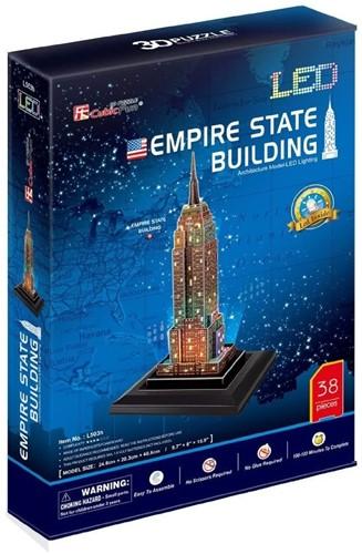 3D Puzzel - Empire State Building LED (38 stukjes)