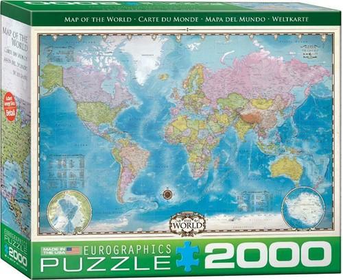Map of the World Puzzel (2000 stukjes)