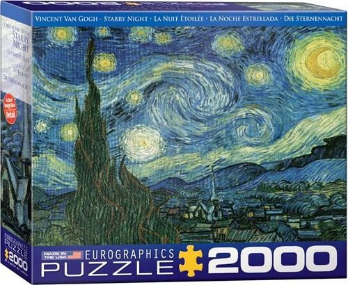 Starry Night - Vincent van Gogh Puzzel (2000 stukjes)
