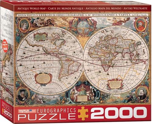 Antique World Map Puzzel (2000 stukjes)