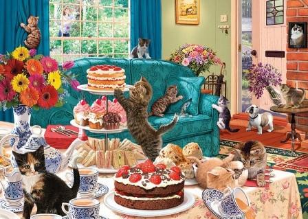 Feline Frenzy Puzzel (1000 stukjes)