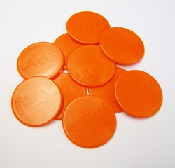 Grote Spel Fiches 38mm Oranje (10 stuks)