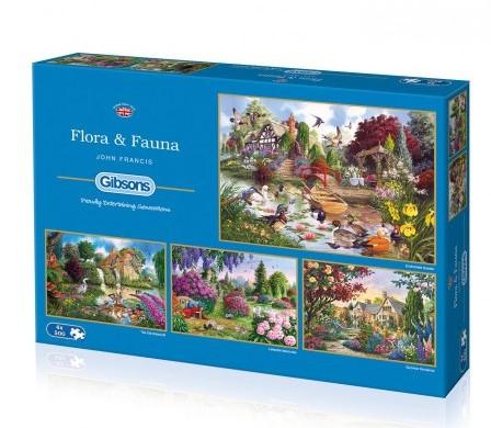 Flora & Fauna Puzzel (4 x 500 stukjes)