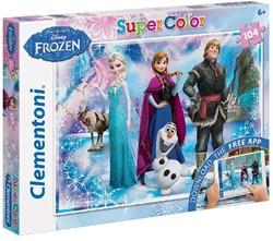 Frozen Puzzel + App (104 stukjes)