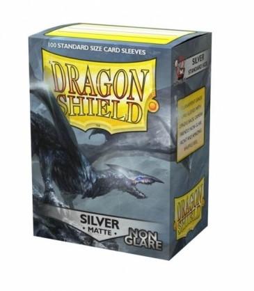 Dragon Shield - Non-Glare Sleeves Zilver (100 stuks)