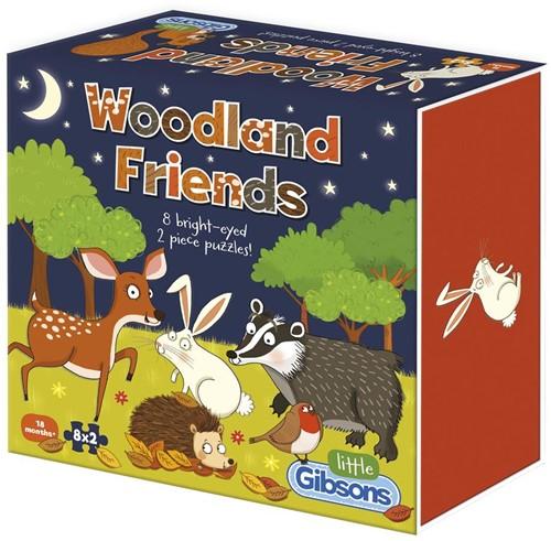 Woodland Friends Puzzel (8 x 2 stukjes)