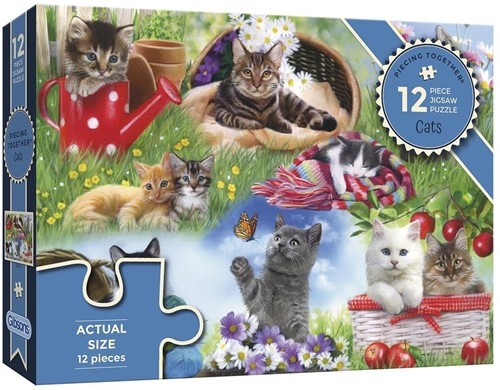 Cats - Piecing Together Puzzel (12 stukjes)