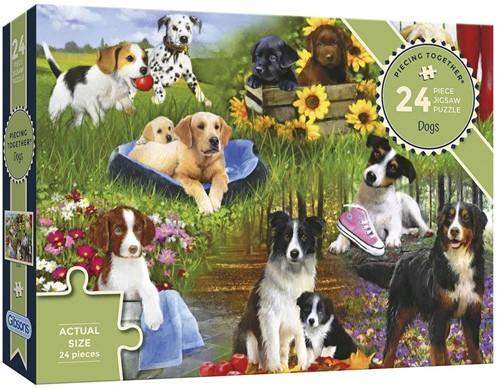 Dogs - Piecing Together Puzzel (24 stukjes)