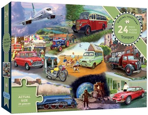 Transport - Piecing Together Puzzel (24 stukjes)