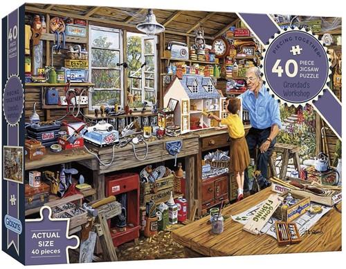 Grandad's Workshop - Piecing Together Puzzel (40 stukjes)