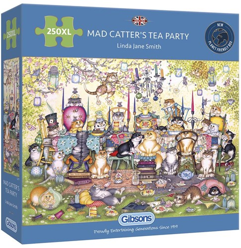 Mad Catter's Tea Party Puzzel (250 XL)