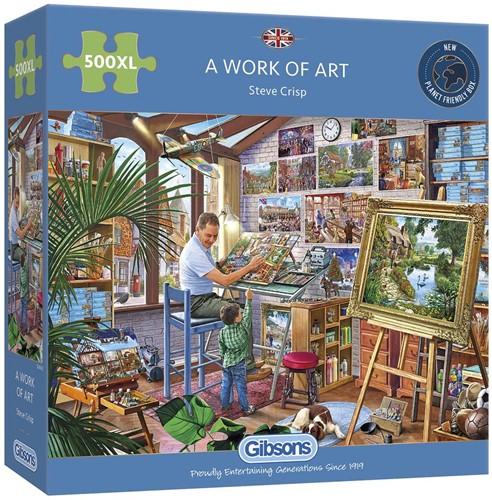 A Work of Art Puzzel (500 XL stukjes)