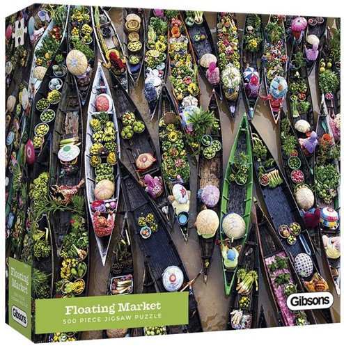 Floating Market Puzzel (500 stukjes)