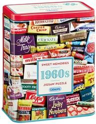 1960s Sweet Memories Gift Tin Puzzel (500 stukjes)