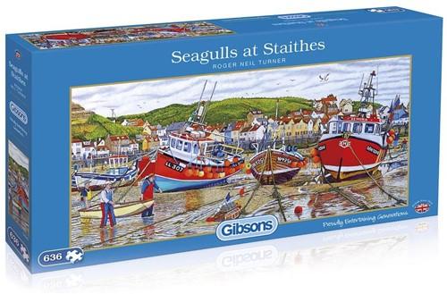 Seagulls at Staithes Puzzels (636 stukjes)