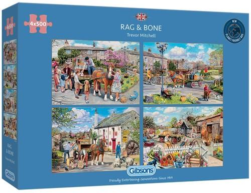 Rag & Bone Puzzel (4 x 500 stukjes)