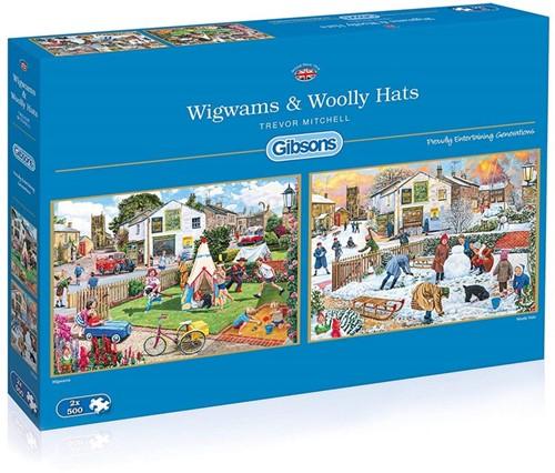 Wigwams & Woolly Hats Puzzel (2 x 500 stukjes)