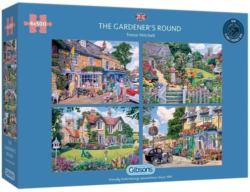 The Gardener's Round Puzzel (4 x 500 stukjes)
