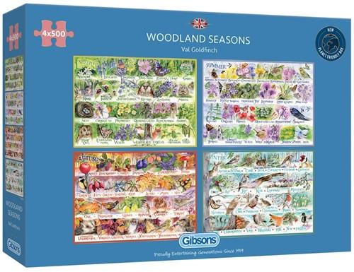 Woodland Seasons Puzzel (4 x 500 stukjes)