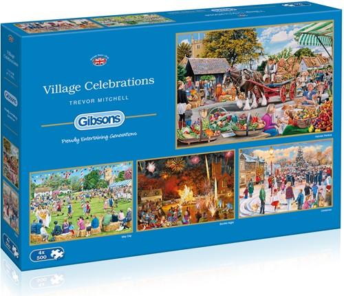 Village Celebrations Puzzel (4 x 500 stukjes)