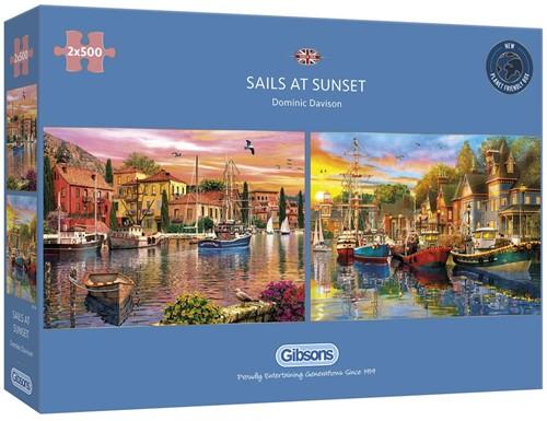 Sails at Sunset Puzzel (2 x 500 stukjes)