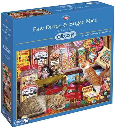 Paw Drops & Sugar Mice - Steve Read Puzzel (1000 stukjes)