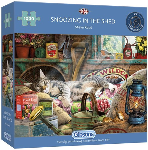 Snoozing in the Shed - Steve Read Puzzel (1000 stukjes)