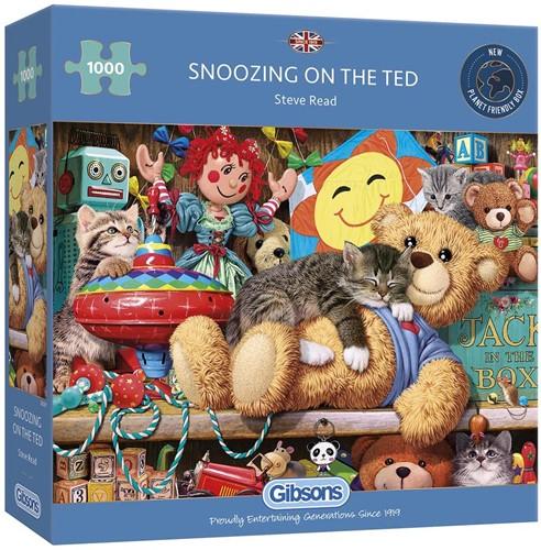 Snoozing on the Ted Puzzel (1000 stukjes)