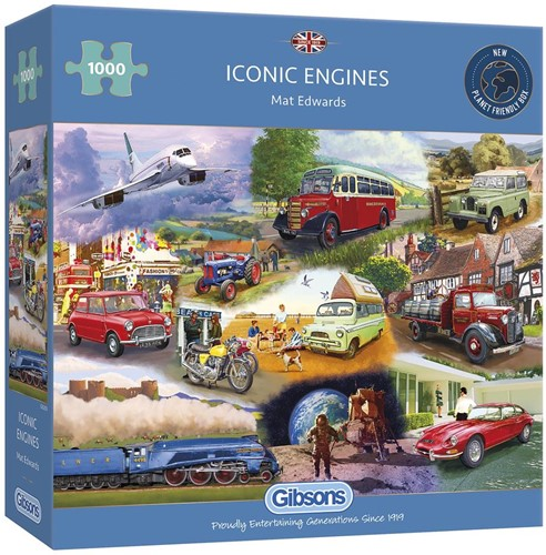 Iconic Engines Puzzel (1000 stukjes)