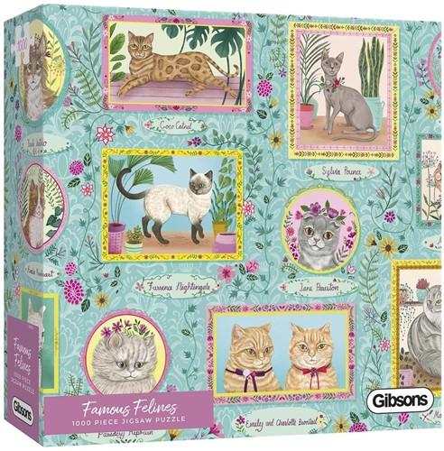 Famous Felines Puzzel (1000 stukjes)
