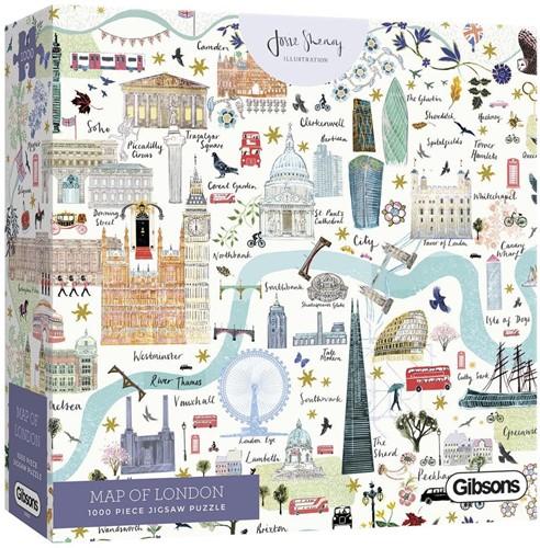 Map of London Puzzel (1000 stukjes)