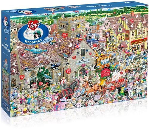 I Love Weddings Puzzel (1000 stukjes)
