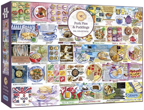 Pork Pies & Puddings Puzzel (1000 stukjes)