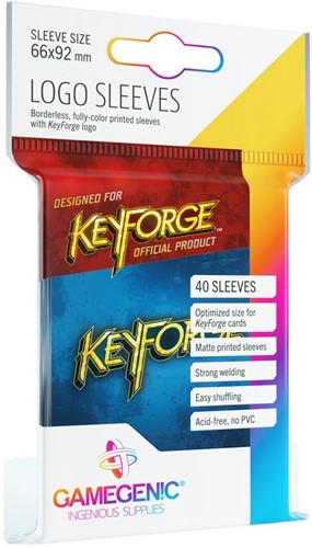 Sleeves Keyforge Logo Blauw (40 stuks)