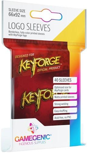 Sleeves Keyforge Logo Rood (40 stuks)