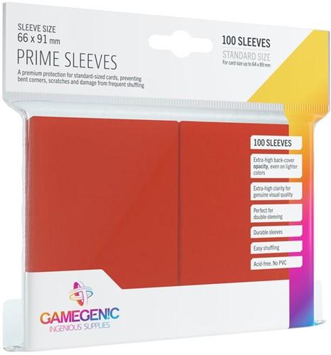 Prime Sleeves 66x91mm Rood (100 stuks)