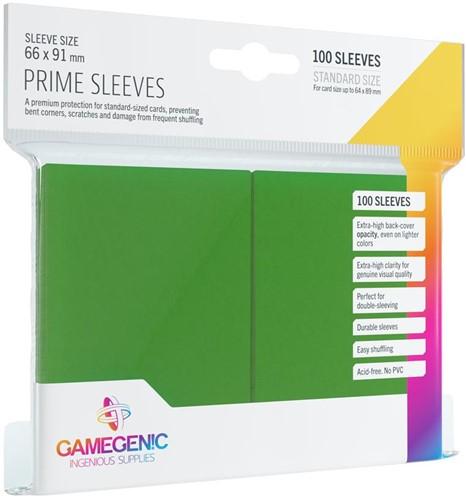 Prime Sleeves 66x91mm Groen (100 stuks)