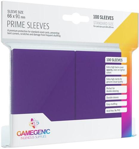 Prime Sleeves 66x91mm Paars (100 stuks)