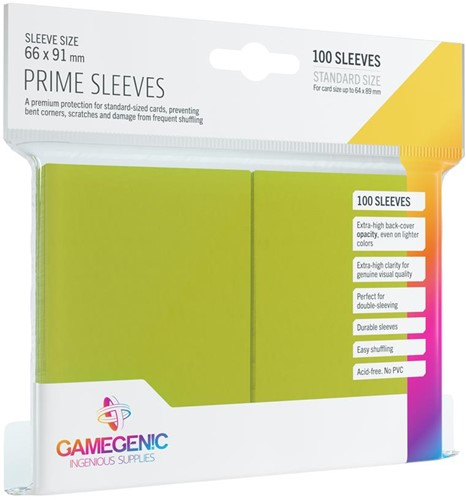 Prime Sleeves 66x91mm Lime Groen (100 stuks)