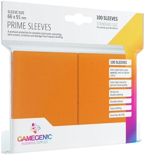 Prime Sleeves 66x91mm Oranje (100 stuks)