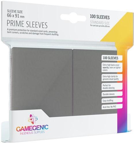 Prime Sleeves 66x91mm Grijs (100 stuks)