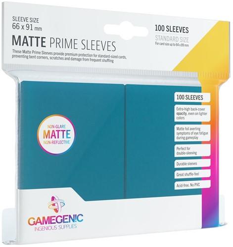 Prime Matte Sleeves 66x91mm Blauw (100 stuks)