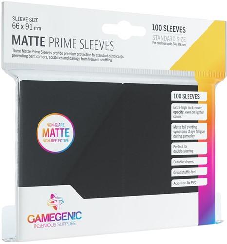 Prime Matte Sleeves 66x91mm Zwart (100 stuks)