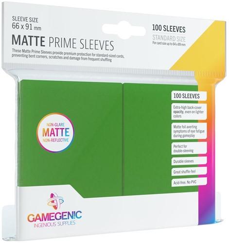 Prime Matte Sleeves 66x91mm Groen (100 stuks)